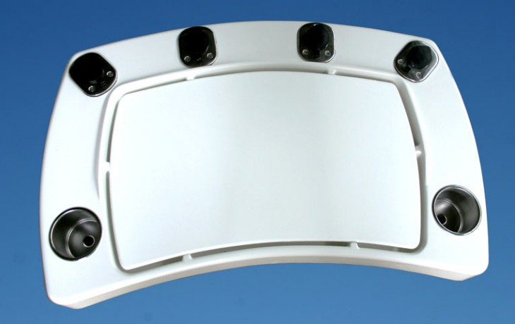 Curved Bait Station, approximately 960mm x 570mm x 90mm.