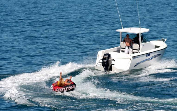 Exhilarating fun with a Fibrelite Centre Cab's ability to turn full lock at full throttle