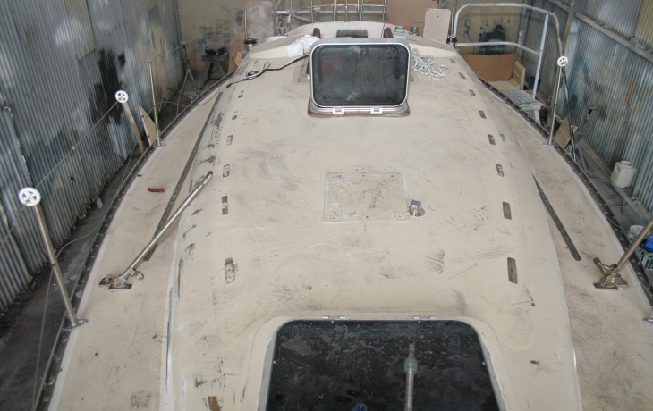 Saloon roof beginning of refit project SS34
