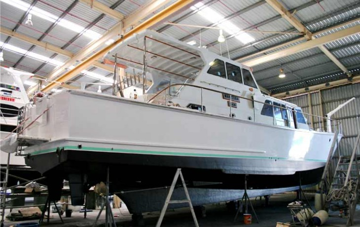 70' Randell Launch 'Manitoba' (Circa 1965) refit nearing completion