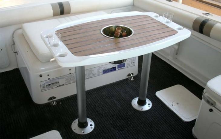 Custom made, teak, Cockpit Drinks Table.