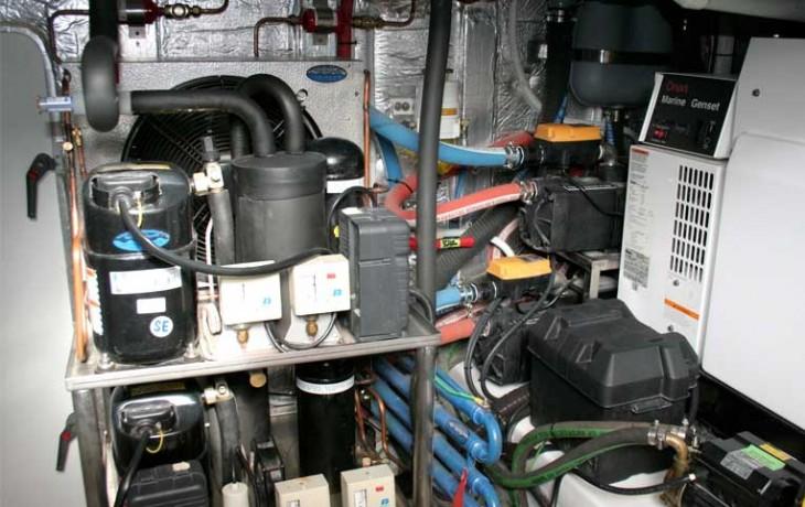Maintenance of refrigeration unit.