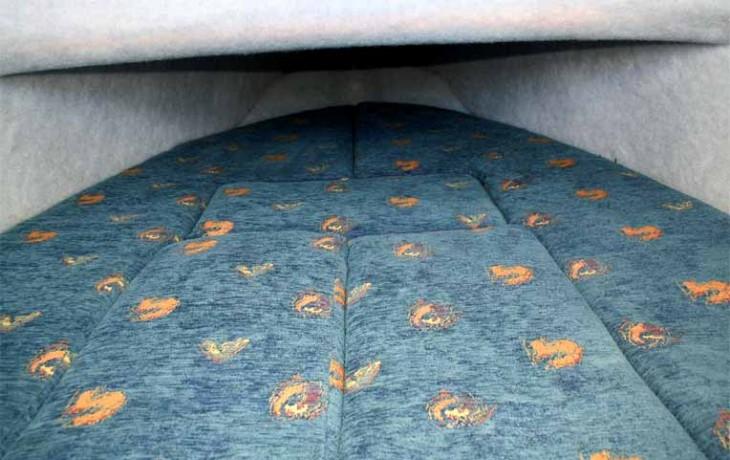 Fibrelite Centre Cab 6250, comfortable, large double bunk