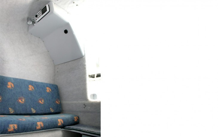 Fibrelite Centre Cab 6250, seating and CD and MP3 system