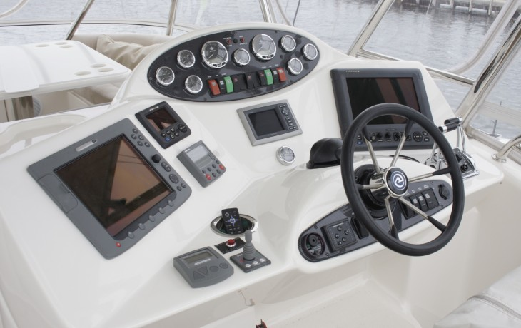 Dash board modified and Furuno 1150 Sounder fitted completing the Riviera's upgrade.