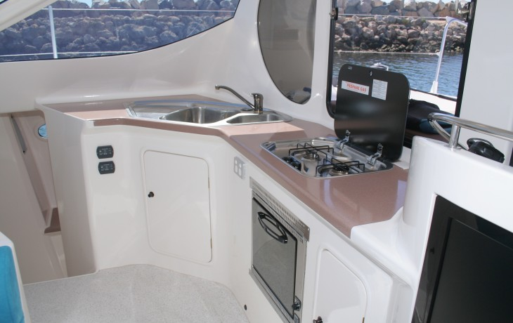 Galley Schionning 45' catamaran.