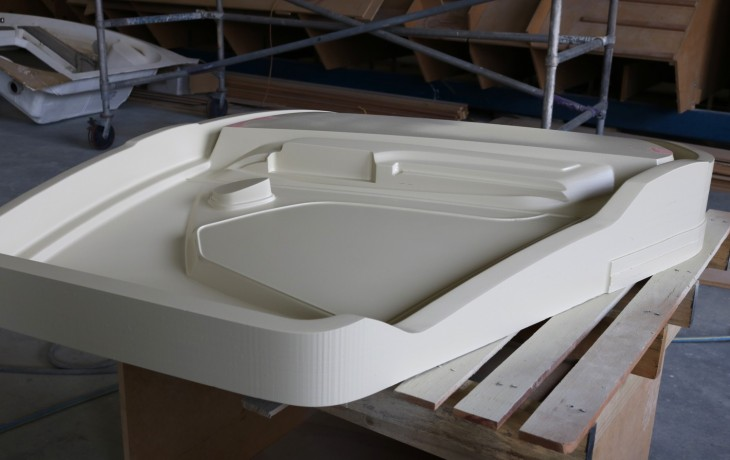 Helicopter door mould after final fairing.