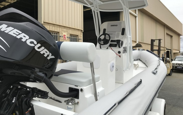 Stingray fitout by Fibrelite Boats.