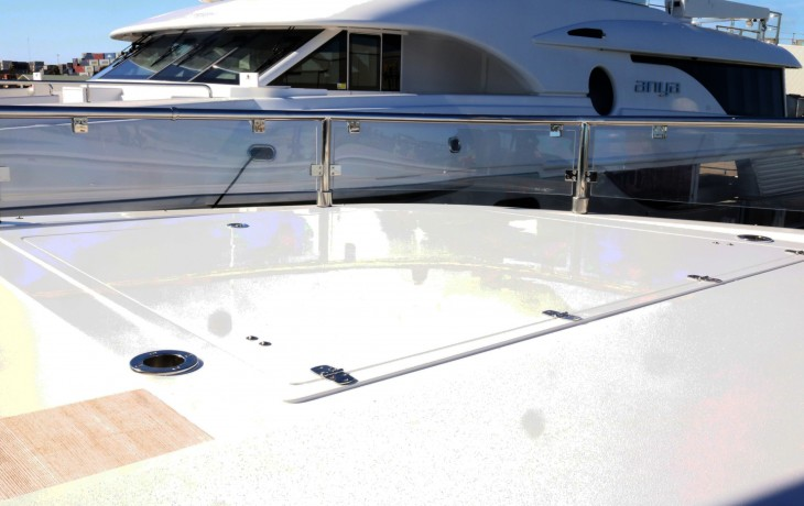Spar boxes built and fitted to a Mondo Marine L5 by Fibrelite Boats
