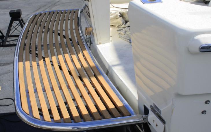 Teak and stainless steel custom built Marlin Board.