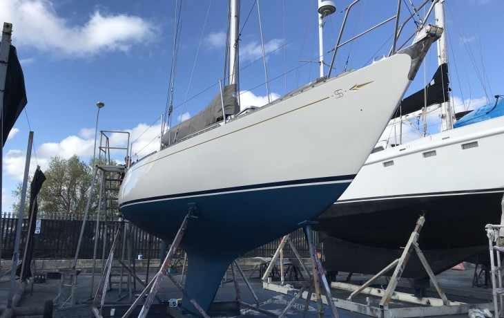 SS34 after scheduled polishing and antifouling.