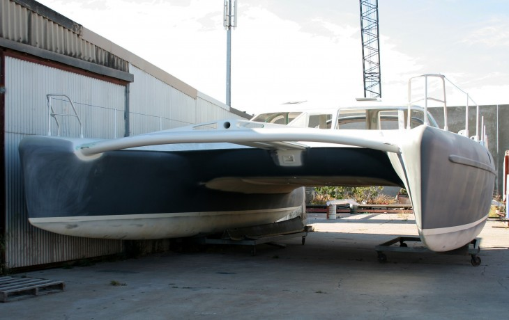 Starting point for fit out - Schionning 45' Catamaran